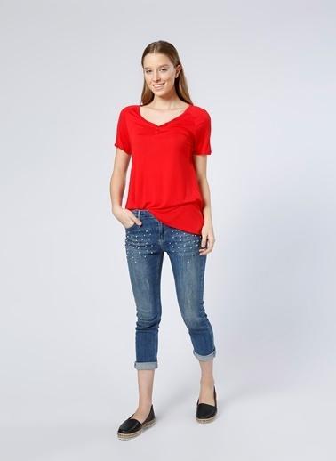 Limon Company V Yaka Tişört Kırmızı